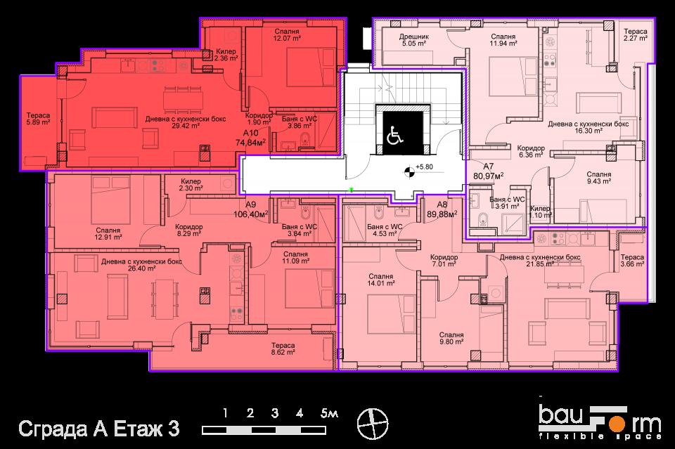 Сграда А Етаж 3
